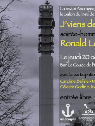J'viens de Moncton, soirée-hommage à Ronald Léger